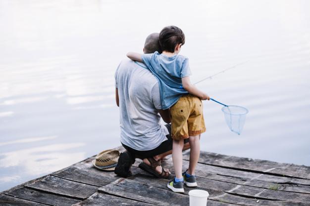 far og søn fiskeri